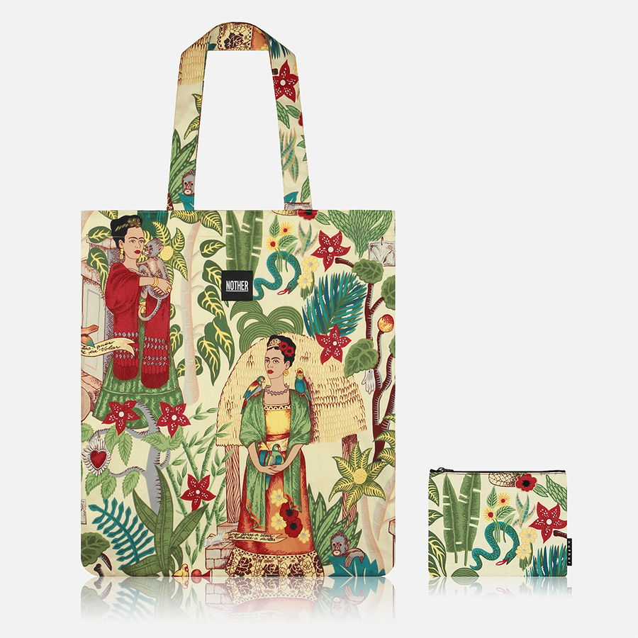 nother Frida Kahlos Garden Flat Tote Bag and Pouch40,800원-나더패션잡화, 가방, 캔버스/에코백, 에코백바보사랑nother Frida Kahlos Garden Flat Tote Bag and Pouch40,800원-나더패션잡화, 가방, 캔버스/에코백, 에코백바보사랑